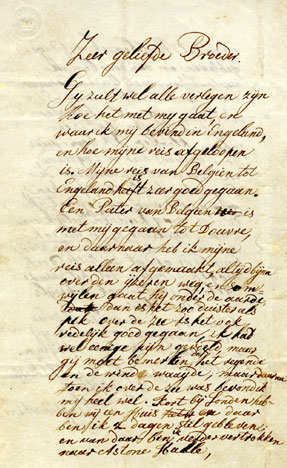 Brief aan zijn familie